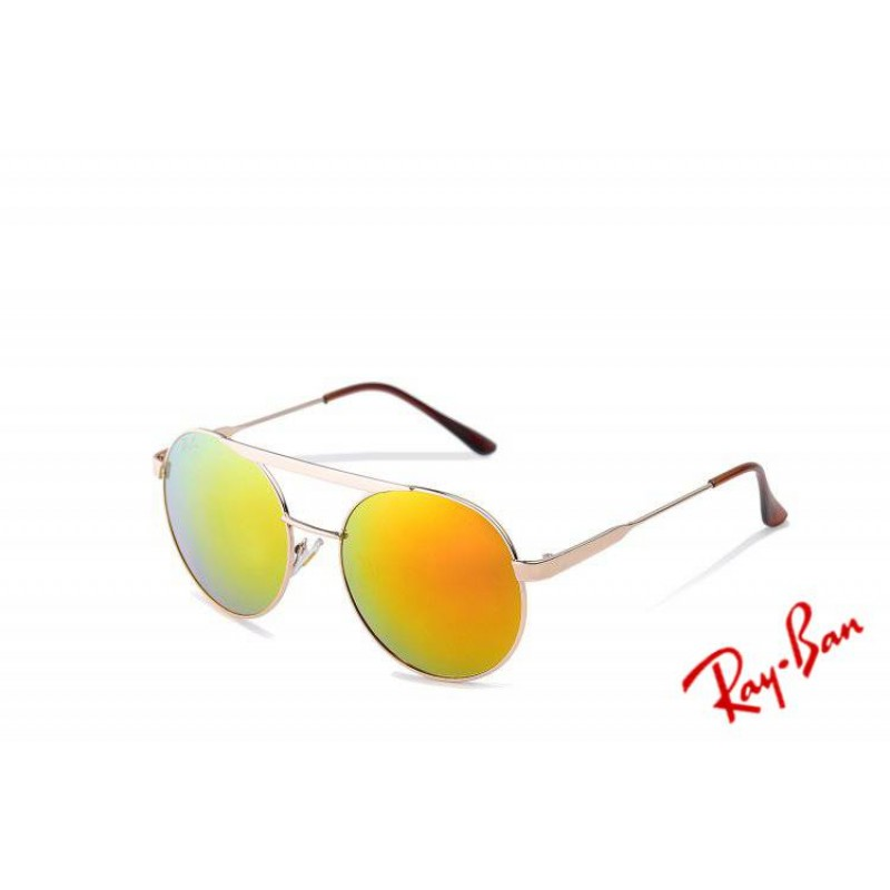 50d5d51b9d7 Ray Ban Aviator Round RB3833 Yellow Sunglasses Ebay