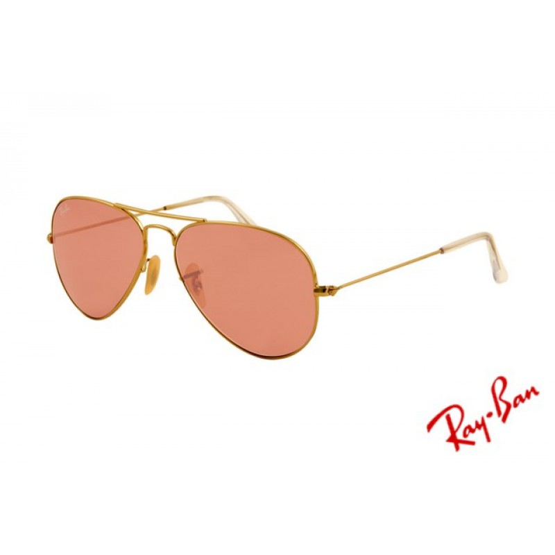 4d270766e7 Ray Ban Aviator RB3025 Sunglasses Gold Frame Crystal Pink Polarized Lens  Free Shipping
