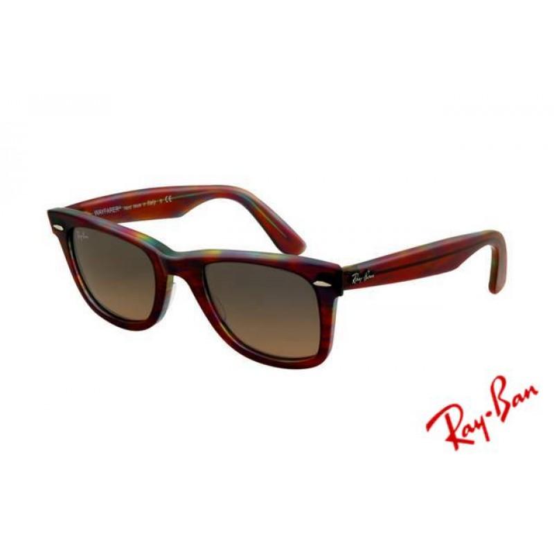 5df89d08f53 Ray Ban Wayfarer RB2140 Sunglasses Red Tortoise Frame Crystal Brown  Polarized Lens Copy