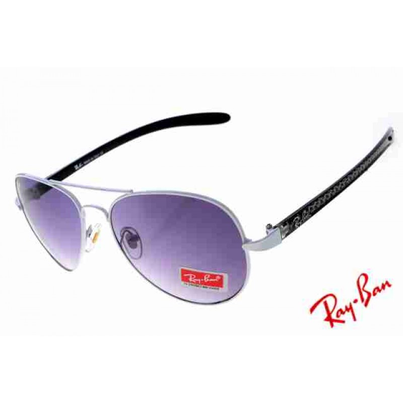 f6d1d27305 Ray Ban Aviator Carbon Fibre RB8307 Purple White Sunglasses Replica