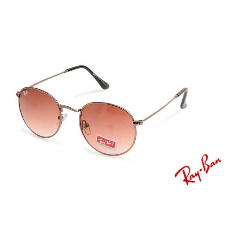 ray ban 3447 round metal rose
