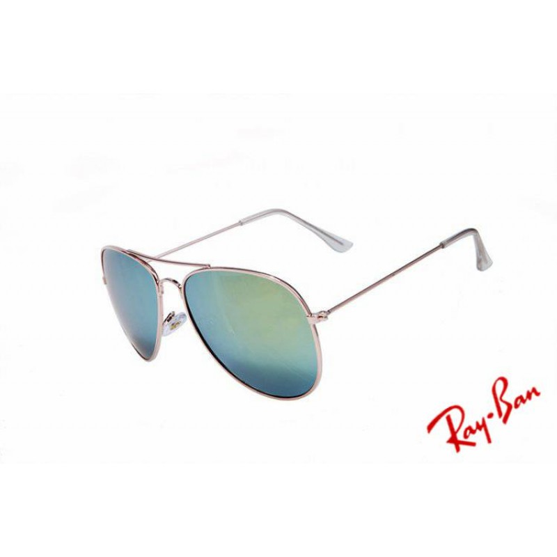 cc248a3d1 Ray Ban Aviator Gradient RB3025 Blue Rose Gold Sunglasses UK