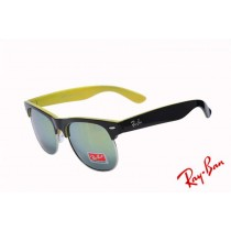 857a850f4c Ray Ban Clubmaster Classic RB3016 Green Yellow Sunglasses Sale