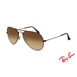 67ea53ab5c Ray Ban Aviator RB3025 Sunglasses Brown Frame Crystal Brown Gradient Lens  Outlet