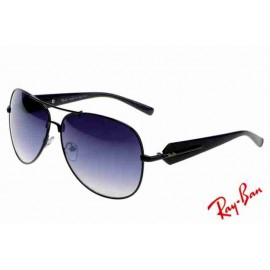 00fbffded2 Ray Ban Aviator RB58012 Sunglasses Black Frame Discount