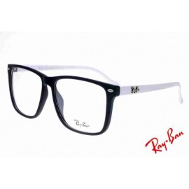 f918d92bad963 Ray Ban Clubmaster RB2428 Sunglasses White Black Frame Transparent Lens Ebay