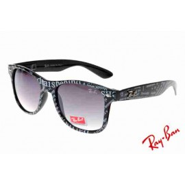 c2cf1e92904 Ray Ban Wayfarer Fashion RB2132 Purple Black Sunglasses Discount