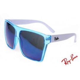 5f9d4363dd Ray Ban Justin Fashion RB2128 Blue White Sunglasses Ebay