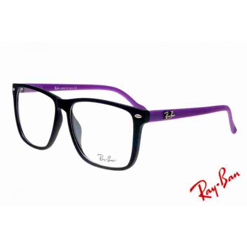 cceef562c3a20 Ray Ban Clubmaster RB2428 Sunglasses Purple Black Frame Transparent Lens  Free Shipping